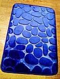 Плюшевый коврик «Галька» 40×60 см синий, фото 6