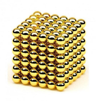 Магнитный конструктор головоломка Неокуб / NeoCube 216 шариков по 5 мм, цвет золотой
