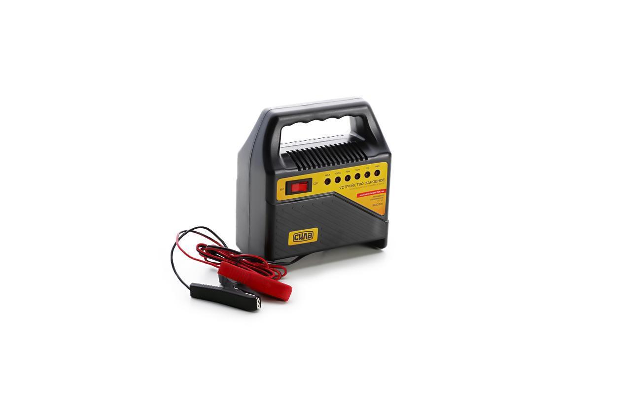 Зарядное устройство Сила - 6В-12В x 4А светодиодный индикатор