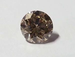 Діамант природний 0.80 Ct коричневий 5.95 - 6.00 X 3.66 mm