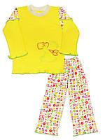 """Пижама для девочки на весну-осень с длинным рукавом """"Медвежонок"""""""