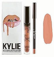 Kylie Jenner Матовые помада + карандаш USA Skylie DIRTI PEACH