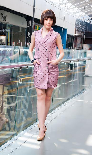 Платье-пиджак летнее в горошек