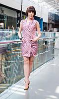 Платье-пиджак летнее в горошек, фото 1