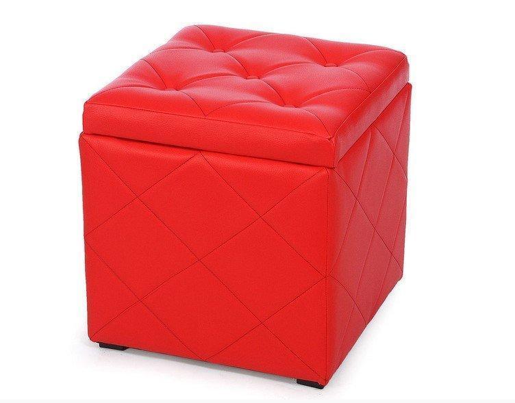 Пуф Ромби-2тКрасный с ящиком внутри ,пуфик,пуфики,пуф кожзам,пуф экокожа,банкетка,банкетки,пуф куб,пу