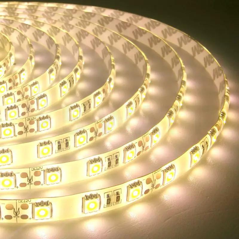 Светодиодная лента OEM ST-12-5050-60-WW-65-V2 теплая белая, герметичная, 5 метров