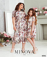 Красивое детское и подростковое платье, коллекция Мама - Дочка, выбор расцветок