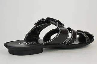 Шлепанцы с ремешками Etor 342 Черные кожа, фото 3