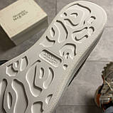 Женские кроссовки Alexander McQueen Silver Leather Trimmed Glitter, кроссовки александр маккуин, фото 9