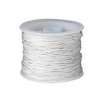 Шнур вощеный, 1 мм, белый с серым оттенком, 1 м