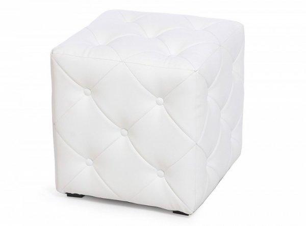 Пуф Ромби-1 Белый. 40х40х43см.,пуфик,пуфики,пуф кожзам,пуф экокожа,банкетка,банкетки,пуф куб,пуф фот