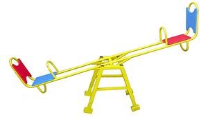 Дитяча гойдалка-балансир Dali 703-4 вулична зі спинкою