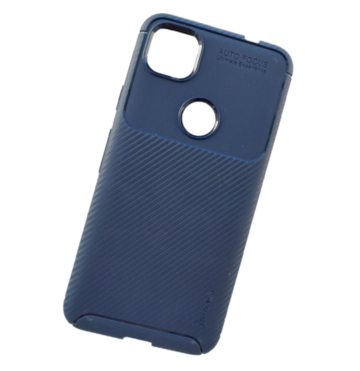 IPaky Google Pixel 4A Carbon Series Blue Чохол Накладка Бампер