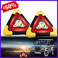 Мультифункциональная светодиодная лампа знак аварийной остановки аккумуляторный LED прожектор фонарь аварийка