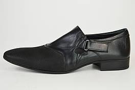 Туфли мужские 44 размера Etor 6587 черные кожа/нубук