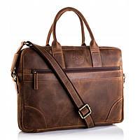 Чоловіча шкіряна сумка-портфель Betlewski 42 х 30 х 7 (TBG-HT-201) - коричнева, фото 1
