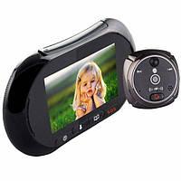Видеоглазок GSM видеодомофон c датчиком движения iHome2 Черный