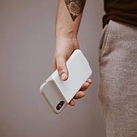 Чехол-аккумулятор для iPhone XS Max 4000 мАч Белый