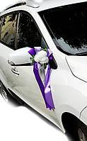 Украшение на ручку свадебных машин Букет Роз. Цвет лиловый.
