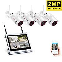 Комплект видеонаблюдения на 4 камеры Anran и LCD монитором
