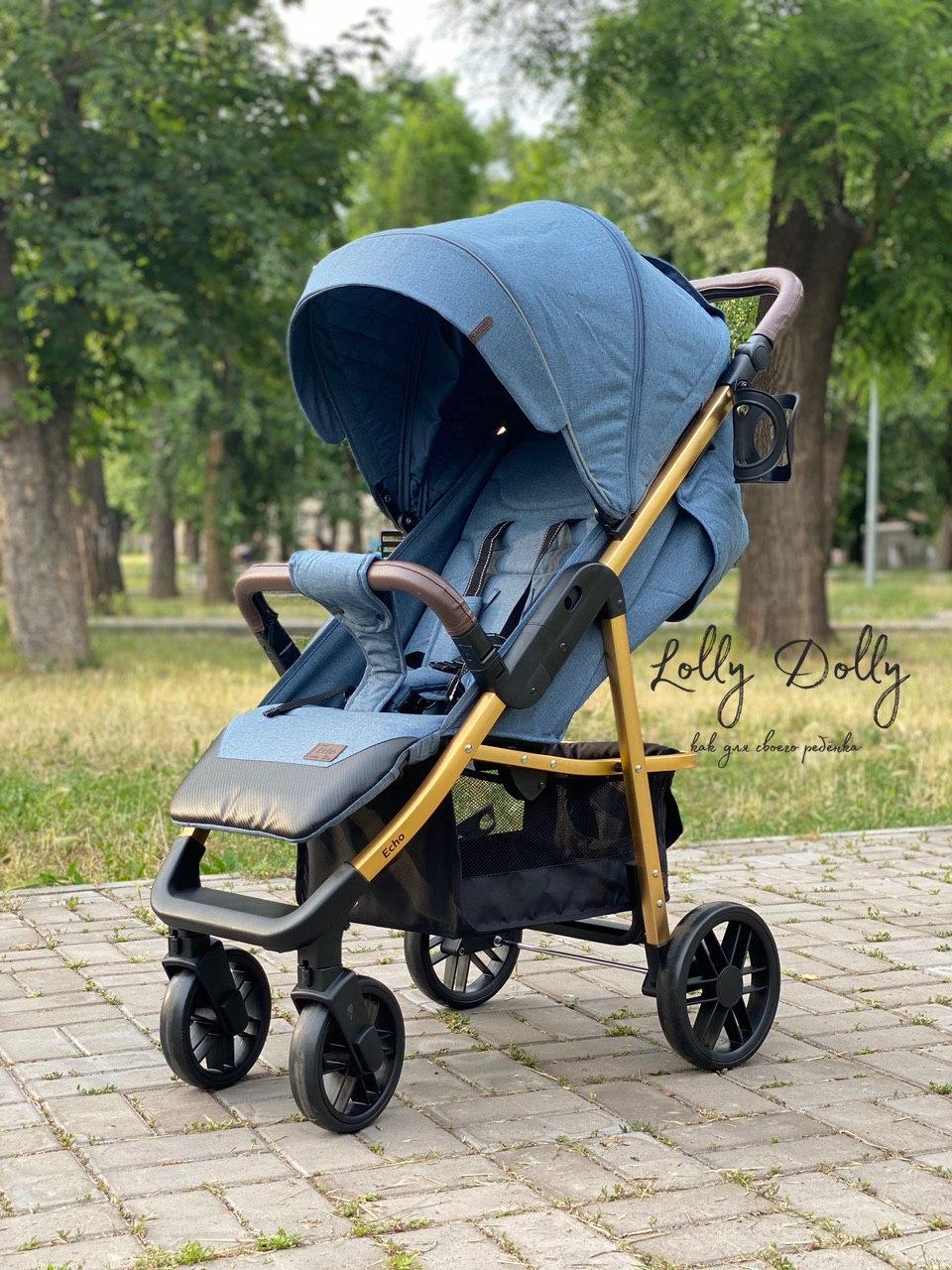 Прогулочная коляска CARRELLO Echo CRL-8508 с дождевиком, Azure Blue