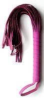 Плетка из экокожи с 30 хвостами с петелькой на руку Notabu фиолетовая L рукояти 15,5 см L хвоста 24,5. Плети и флоггеры