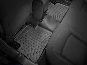 Ковры резиновые WeatherTech  Nissan X-Trail 2015+ задний черный