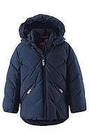 Зимние детские пуховые куртки Reima Ilta, темно- синяя, 104 р.