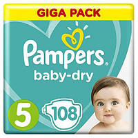 Подгузники Pampers Active Baby Junior 5 (11-18 кг) Mega Pack 108 шт