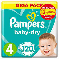 Подгузники Pampers Active Baby-Dry Maxi 4 (7-14 кг) Mega Pack 120 шт