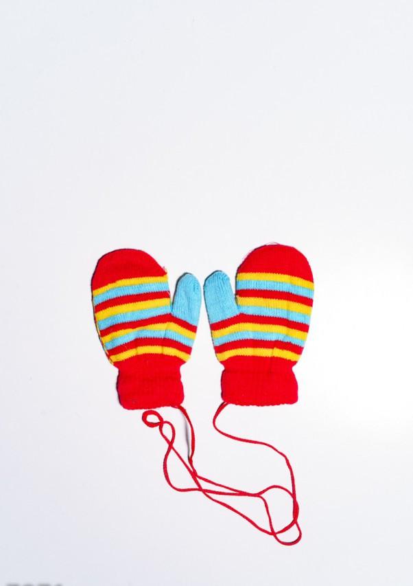 Детские перчатки и варежки  7871  12 месяцев красный