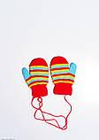 Детские перчатки и варежки  7871  12 месяцев красный, фото 2