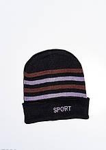 Мужские шапки  7901  Universal черный/коричневый
