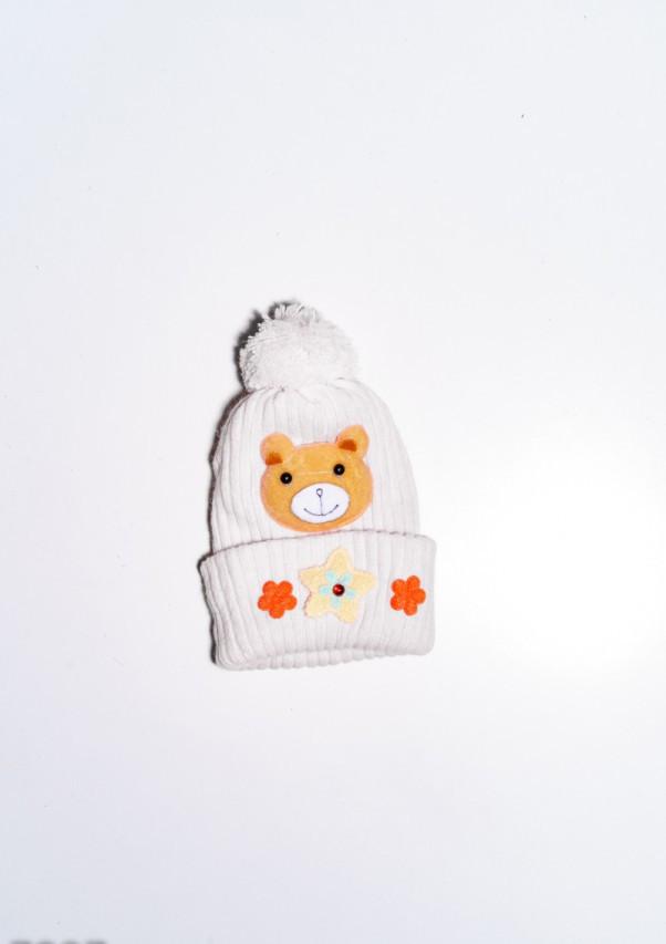 Детские шапки  7897  12 месяцев молочный