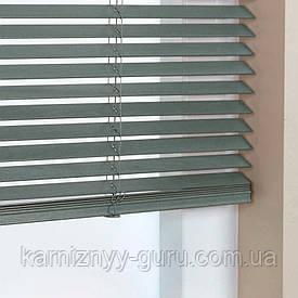 Жалюзи деревянные горизонтальные 25 мм светлый синий Sundeco