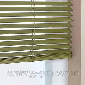 Жалюзи деревянные горизонтальные 25 мм зеленый Sundeco