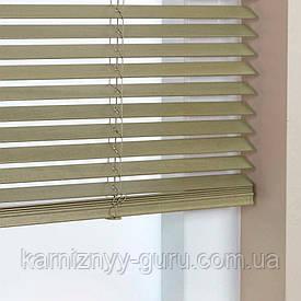 Жалюзи деревянные горизонтальные 25 мм дымный серый Sundeco