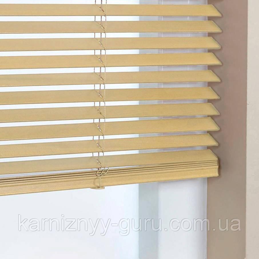 Жалюзи деревянные горизонтальные 25 мм натуральный Sundeco