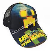 Кепка Minecraft, бейсболка Майнкрафт универсальный размер 52-56см