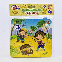 """Магнитные пазлы для детей """"Пираты"""" Vladi Toys. Развивает моторику. Яркие цвета. VT 3204-09 (рус) (60)"""