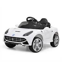 Детский электромобиль Машина Ferrari M 3176EBLR-1 белый для девочки мальчика  2 3 4 5 6 лет машинка Феррари