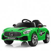 Детский электромобиль Машина Mercedes M 4105EBLR-53 зеленый для девочки мальчика 3 4 5 6 7 8 лет Мерседес