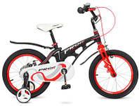 Детский велосипед  PROF1 18 дюймов LMG18201 Infinity, звонок , 2+2 дополнительные колеса  до 10 лет черный