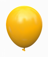 "Латексный шар без рисунка Kalisan Желтый теплый 5"" 12,5 см"