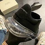 Женские кроссовки Alexander McQueen Clear Sole Black, кроссовки александр маккуин, фото 7