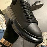 Женские кроссовки Alexander McQueen Clear Sole Black, кроссовки александр маккуин, фото 4