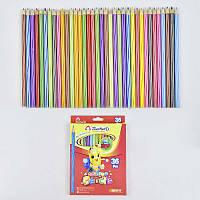 Цветные карандаши для детей. От 3 лет. 36 штук. 36 насыщенных цветов. Для творчества. Развивает художественные