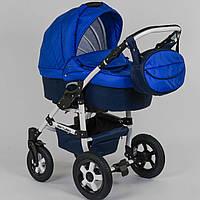 Коляска для новорожденных детей Saturn 0140-С60 цвет СИНИЙ