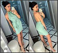Платье, ткань: Лён габардин,  р-р  42-44, 44-46,  цвет: ( джинс, оливка, розовый )