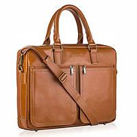 Чоловіча шкіряна сумка-портфель Betlewski 42 х 32 х 12 (BTM-02) - пісочна, фото 1